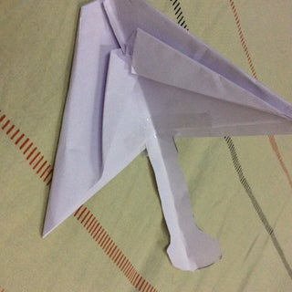 Paper Airplane Glider From Grampa D