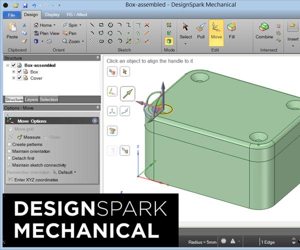 Free 3D CAD Modelling Using DesignSpark Mechanical