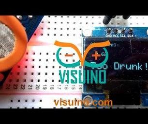 Visuino Breathalyzer How to Use the MQ-3 Alcohol Gas Sensor