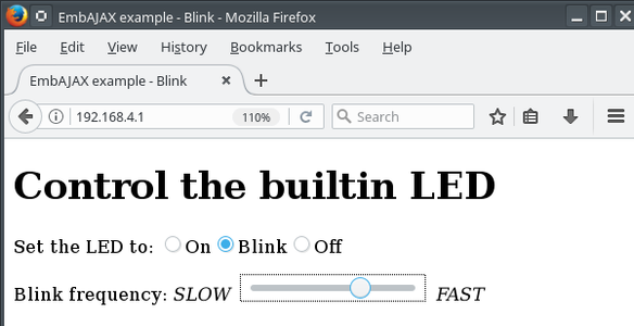 Blink Your LED - Web Controlled