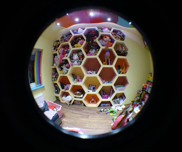 Built in Wall Hexagon Shelves