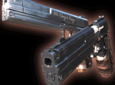 Laser Cut MDF Cosplay Pistols