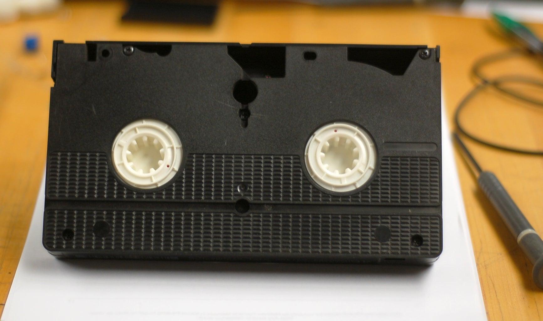 Disassemble VHS Cassette