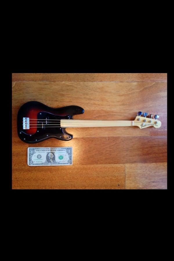Build a Miniature 70s Fender Bass Guitar