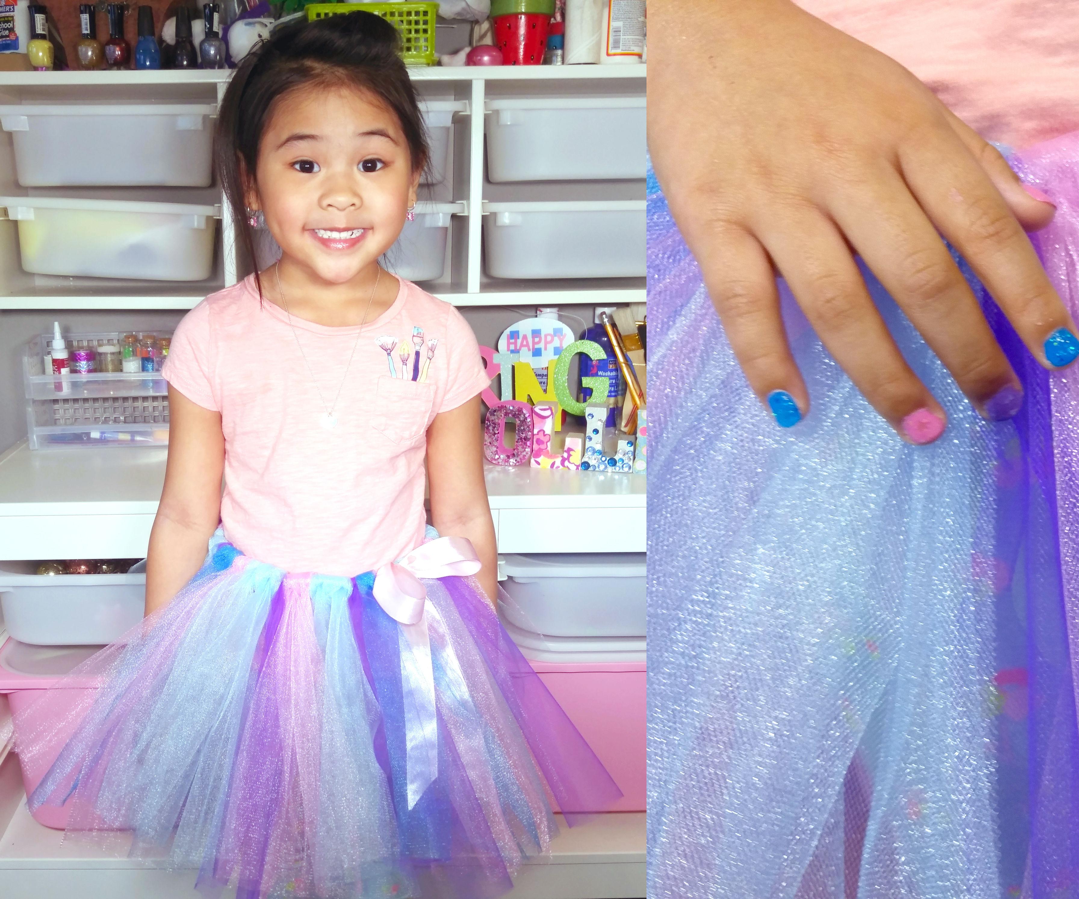DIY No-Sew Unicorn Tutu Tulle Skirt