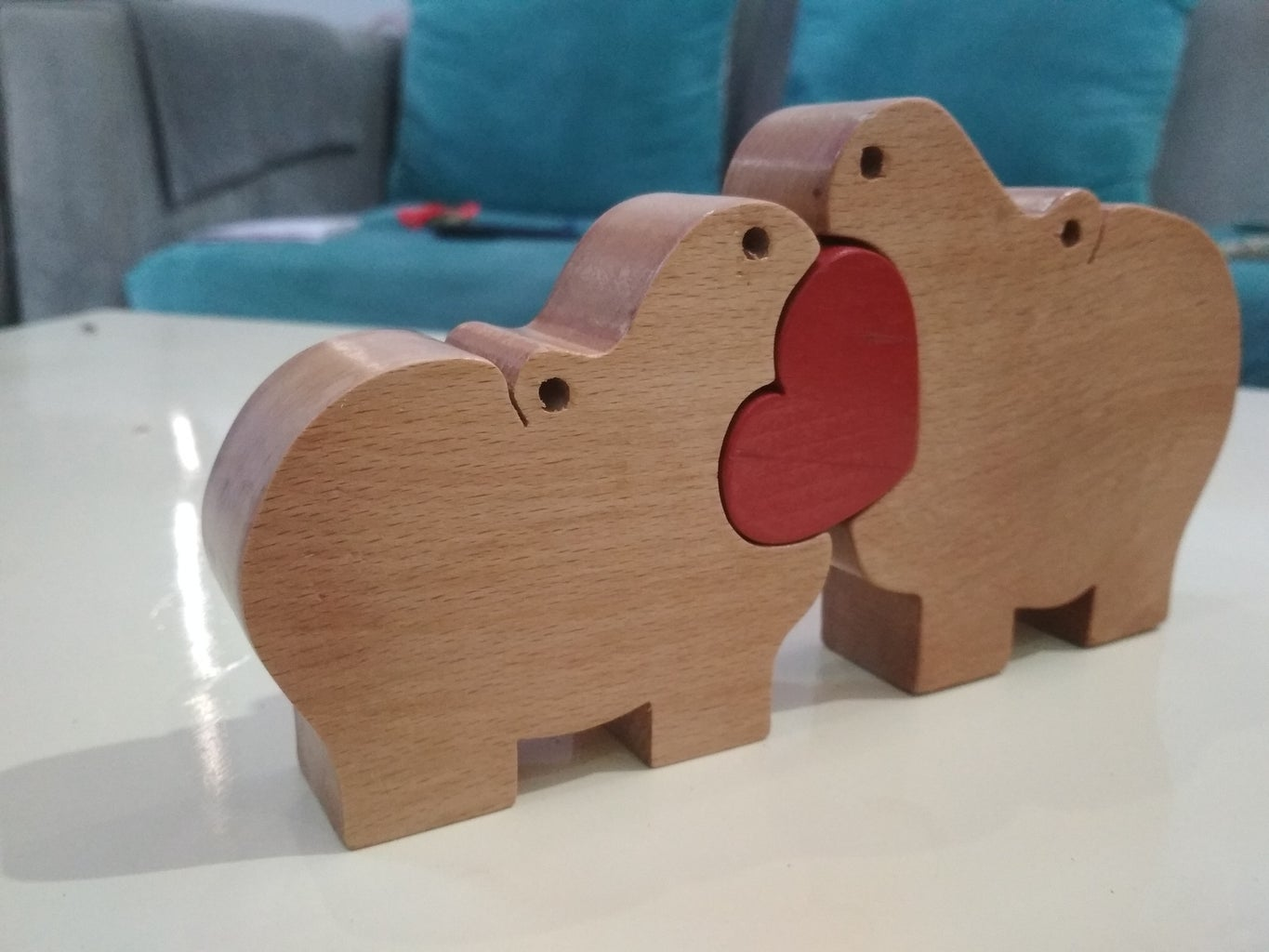 This Is My Hippo Wooden Puzzle After Finishing for My Kids