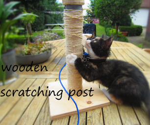 Wooden Scratching Post