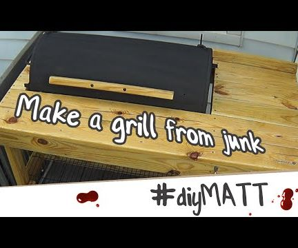 Making a grill from junk