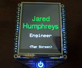 Touch Screen Business Card