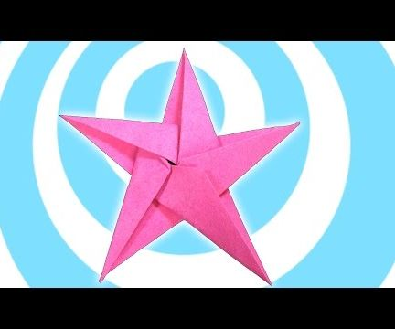 5 Pointed Origami Star Christmas Ornaments