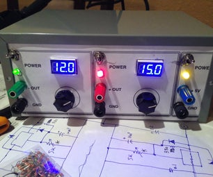 Triple Variable Regulated Power Supply