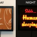 Hidden Backlit LED Sleeping Sign