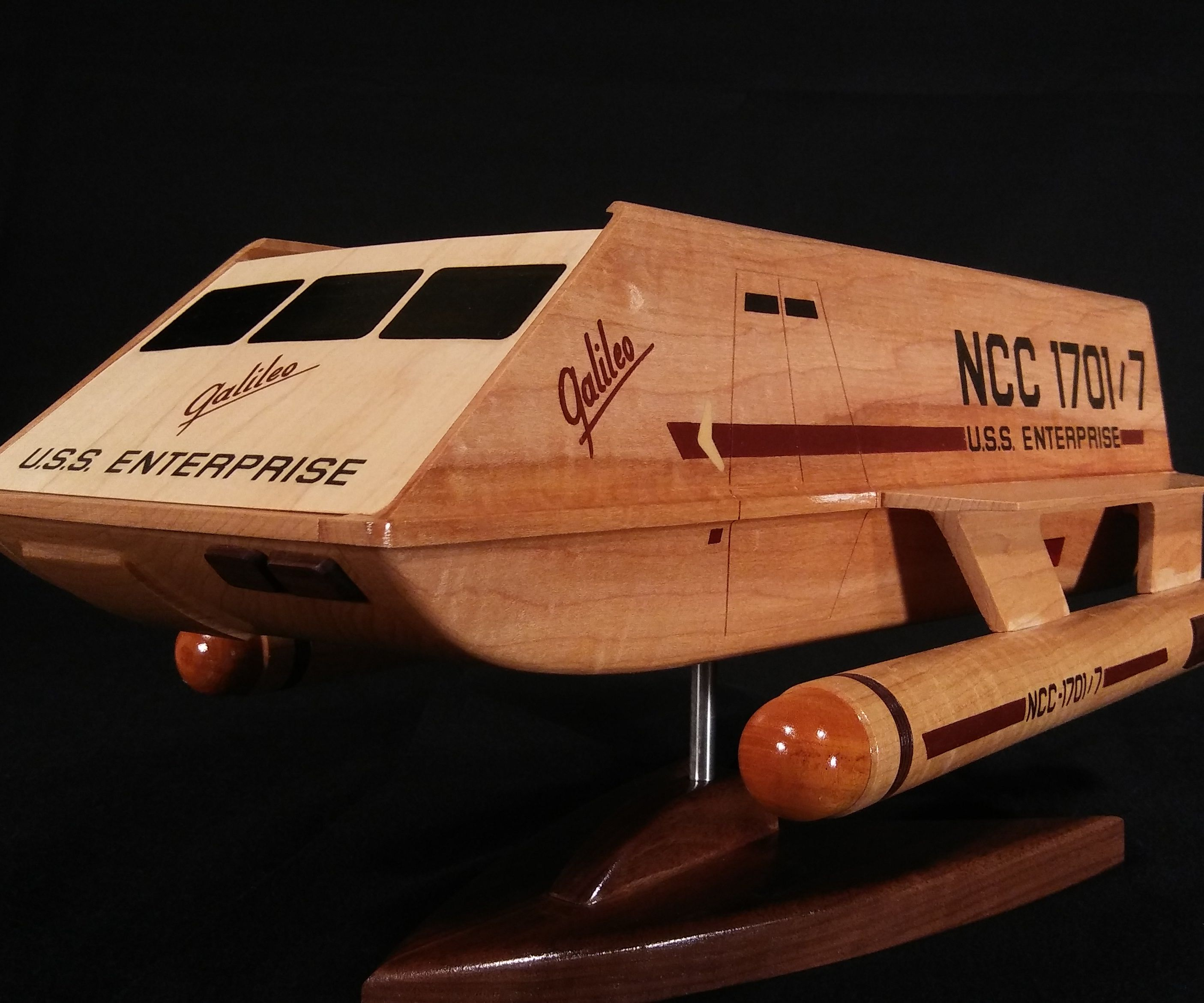 Wooden Shuttlecraft Galileo Model