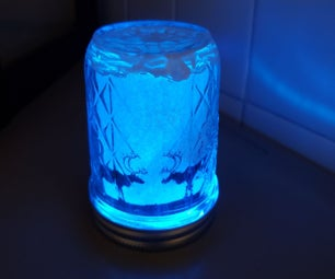 Glowing Jar Decoration