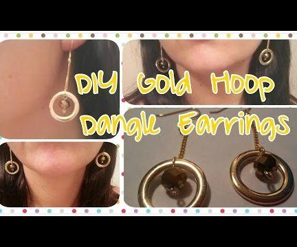DIY Gold Hoop Dangle Earrings