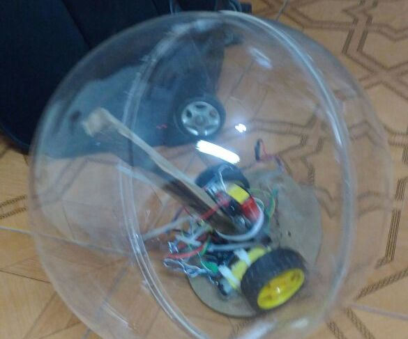 Round Robot to Measure the Temperature