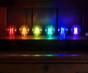 Polychrome LED Filament Lamp
