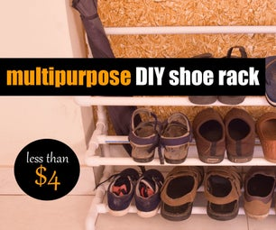 PVC Pipe Projects Shoe Rack DIY Ideas