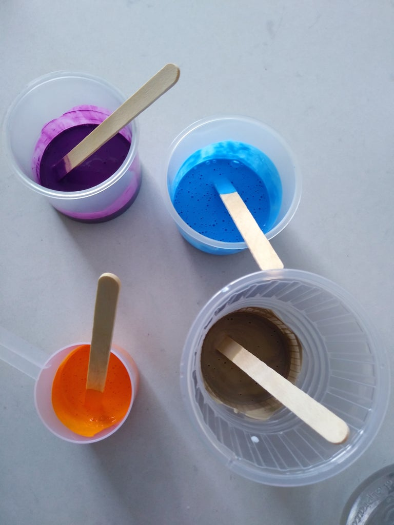 Mixing the Paint