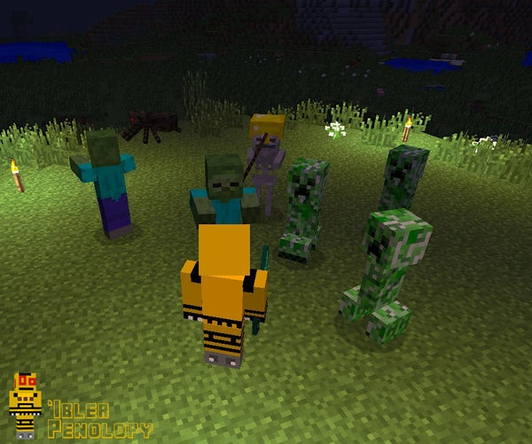 Fighting Monsters in Minecraft