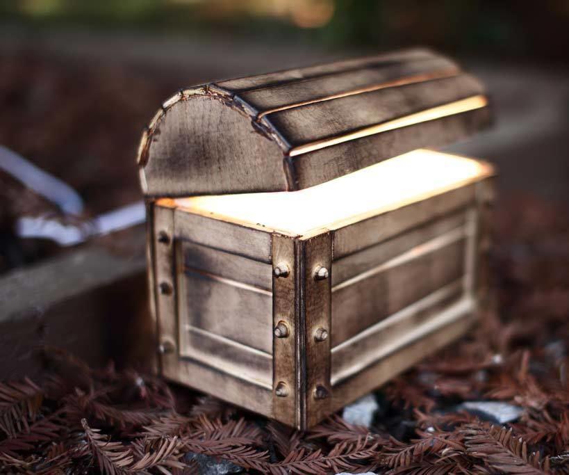 DIY Night Light Treasure Chest