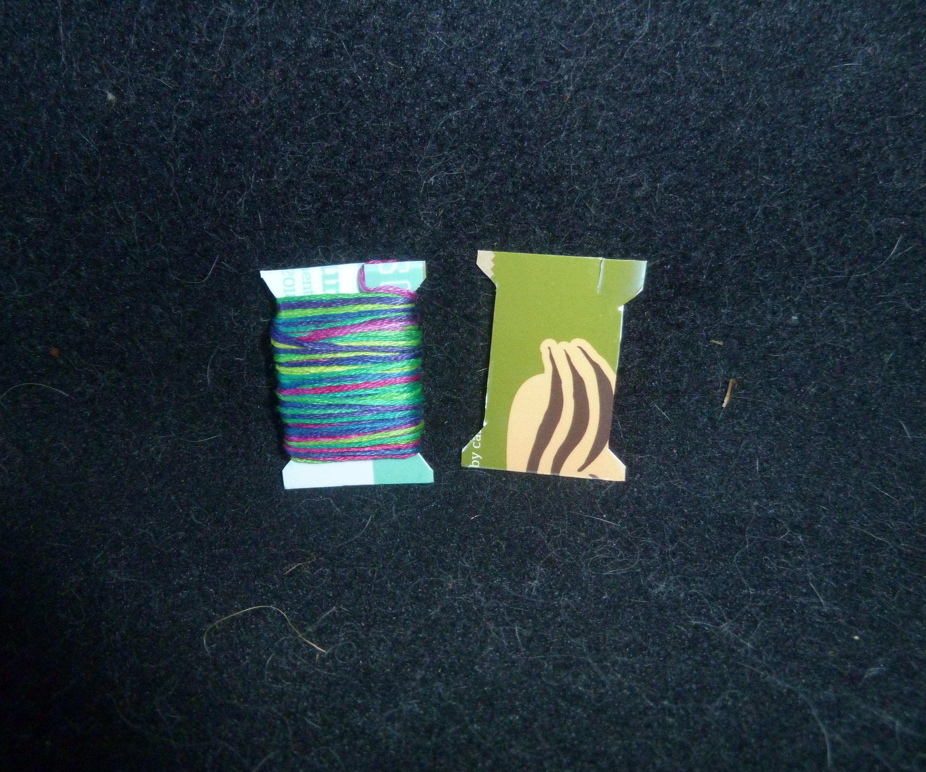 DIY Upcycled Embroidery Floss Bobbins