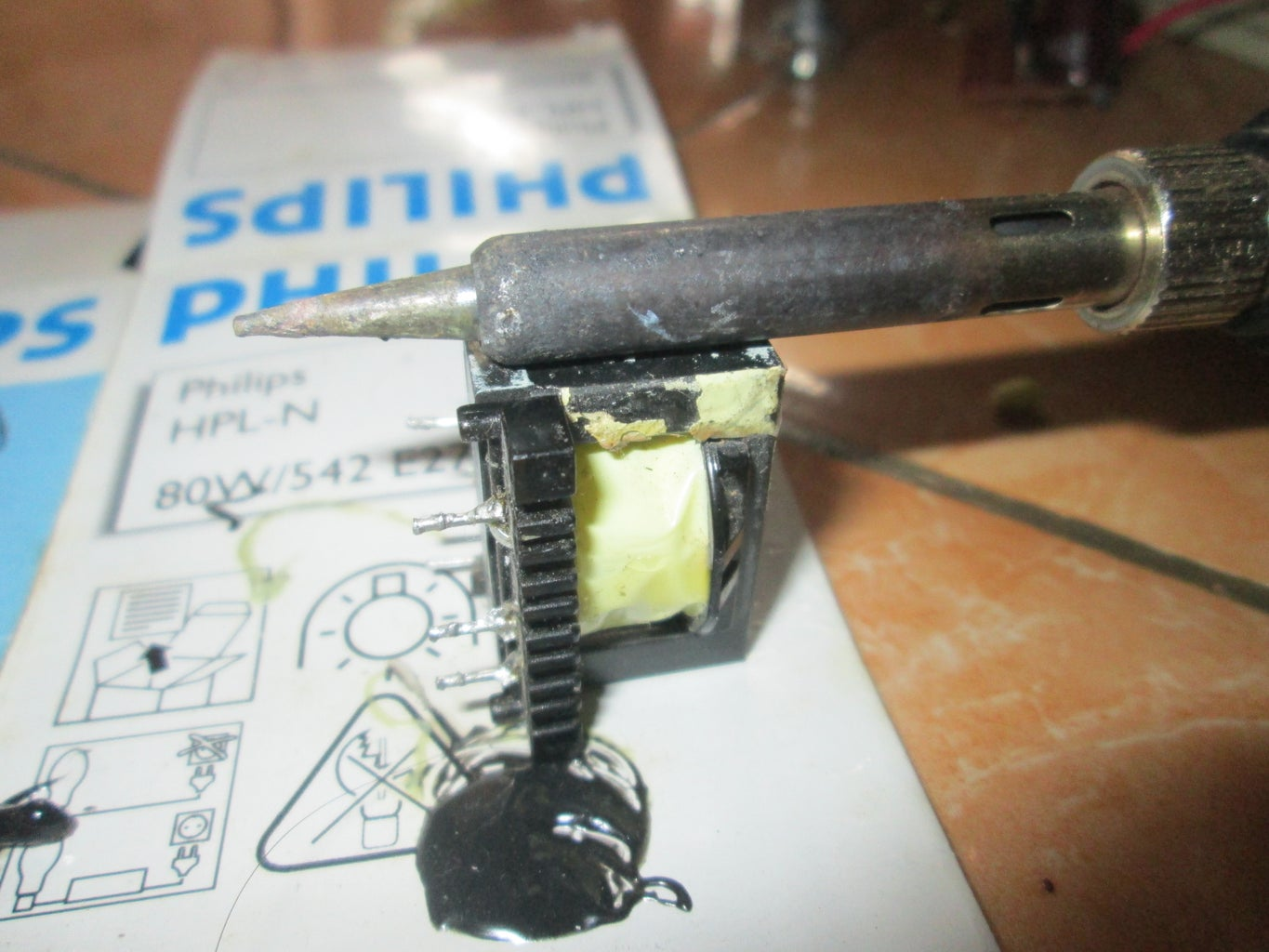 Remove Old Transformer Magnet Wire