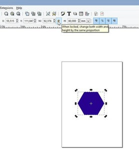 Draw a Hexagon.