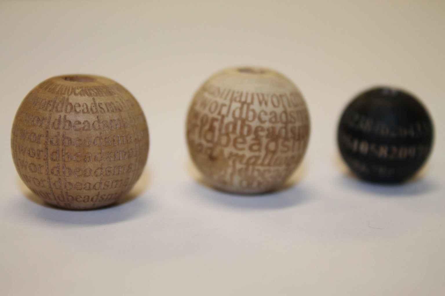 Laser Etched Beads