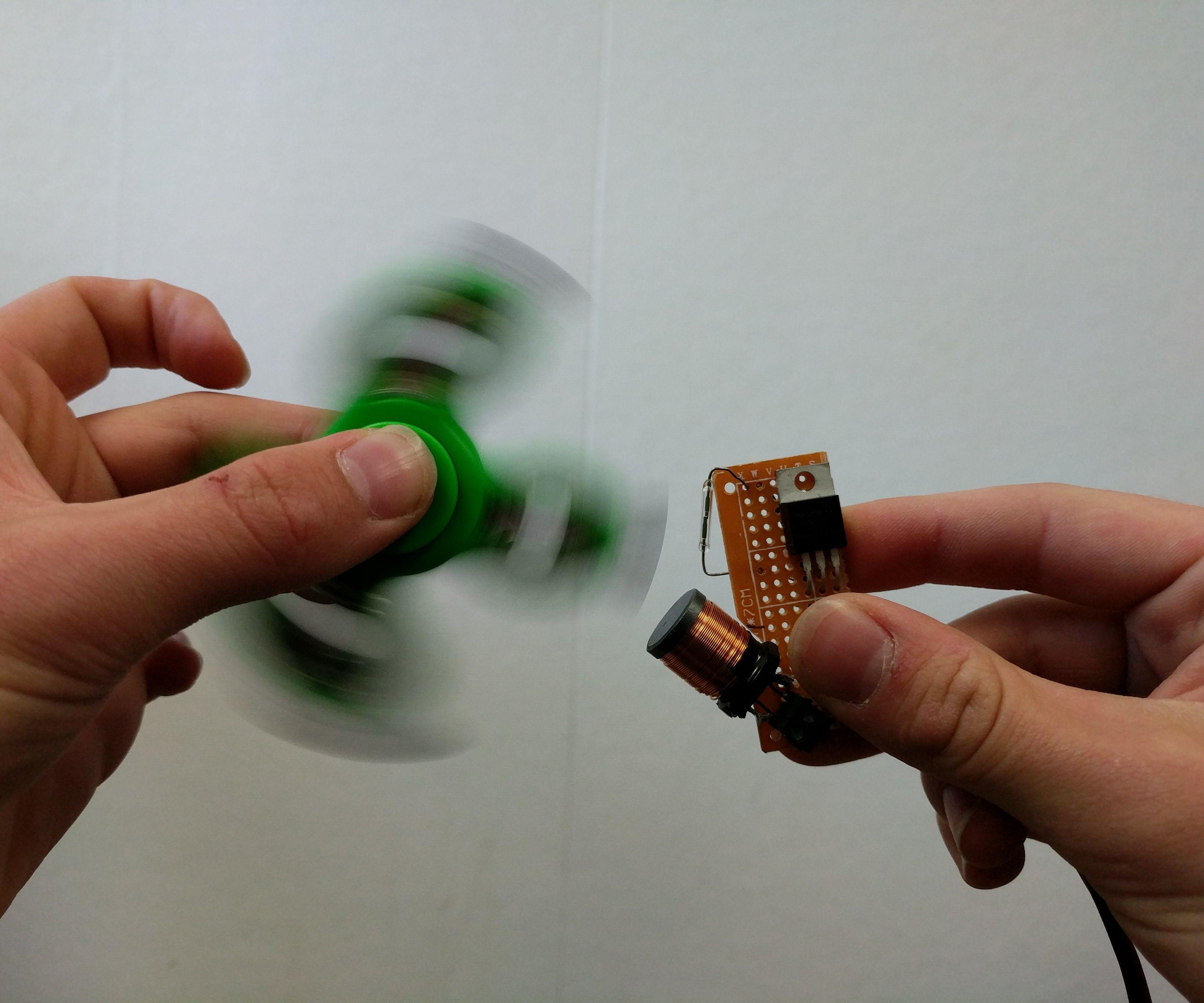 Electromagnetic Fidget Spinner Accelerator