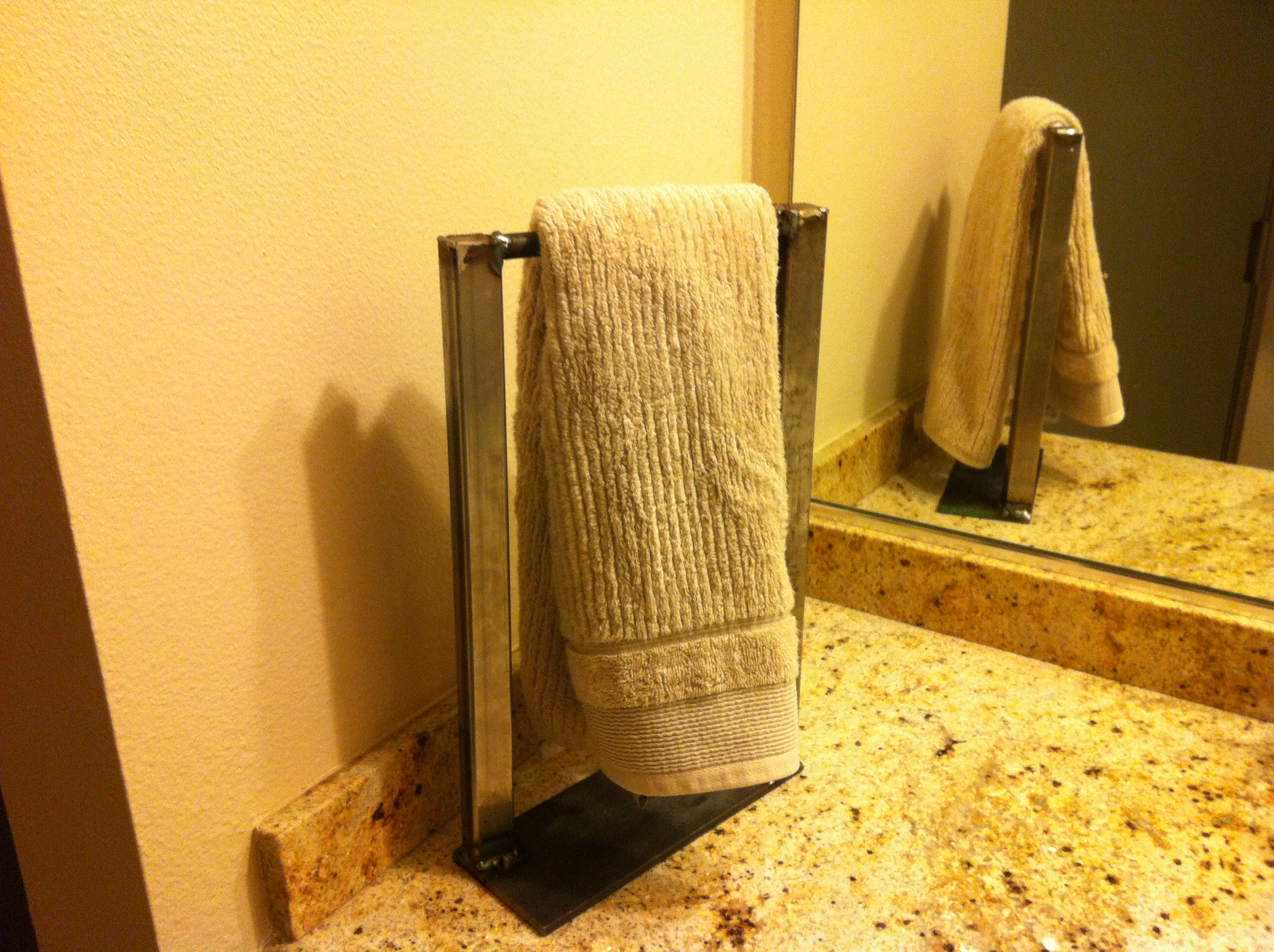 Hand Towel Rack - I made it at TechShop