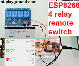 ESP8266 Controlling 4 Relays
