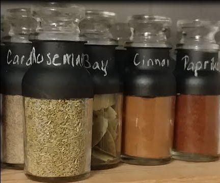 DIY Chalk Board Spice Jars