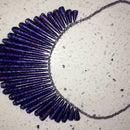 Paper Bead Galaxy Fan Necklace