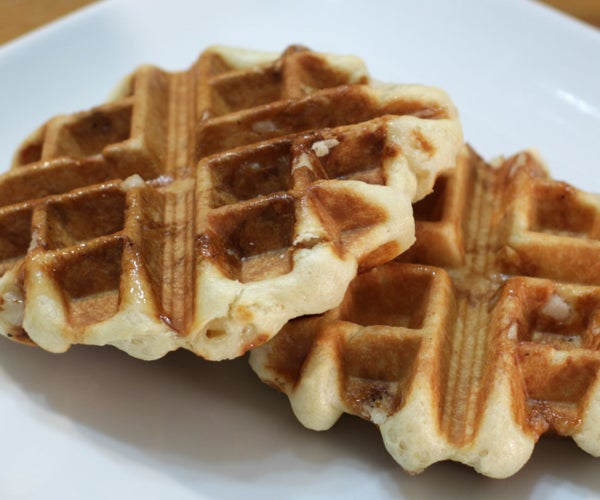 Belgian Sugar Waffles   Liege Waffle Recipe