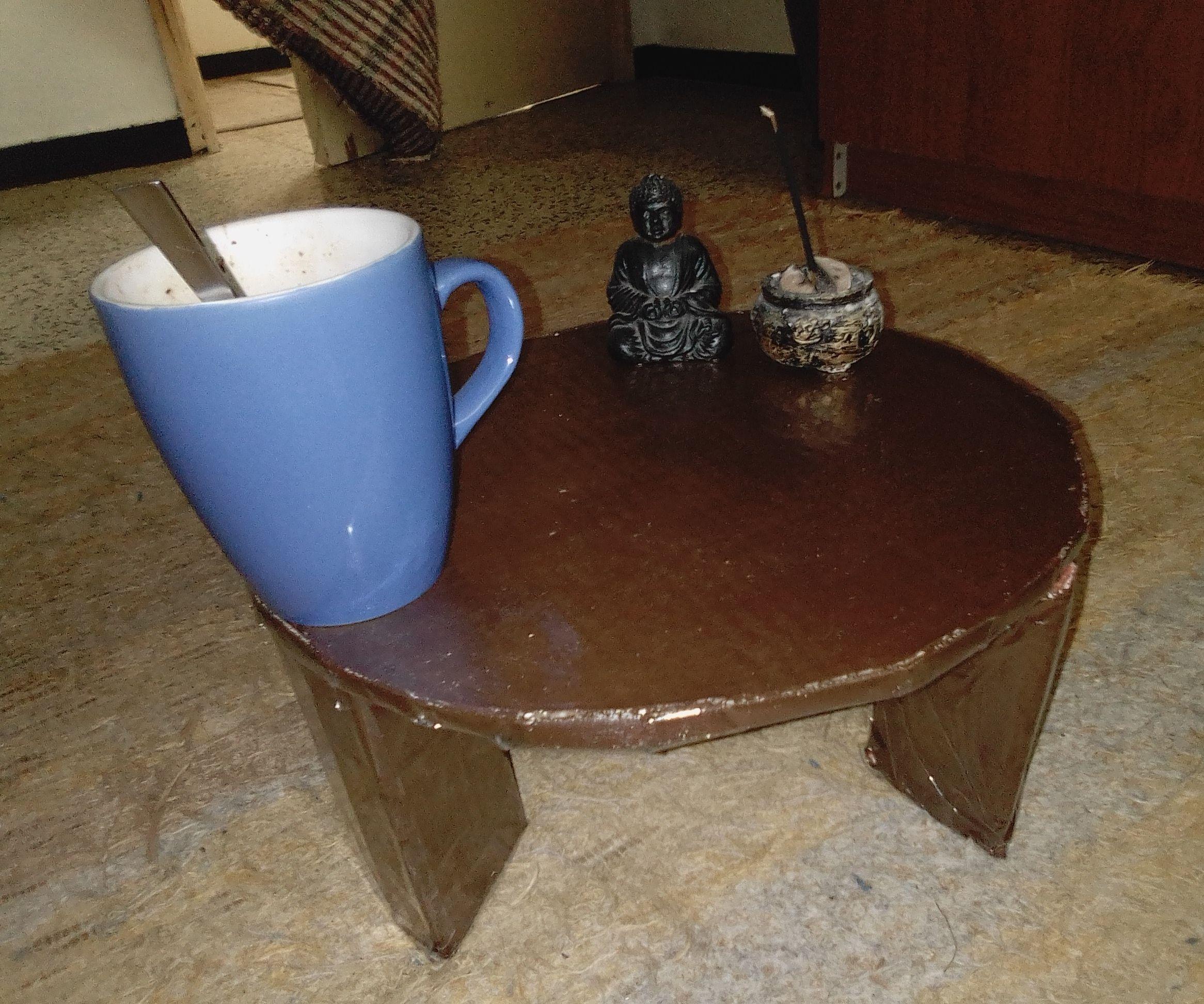Tatami Tea / Coffee Table From Cardboard.