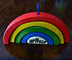 彩虹婴儿堆积玩具