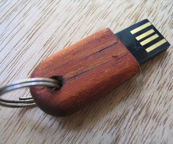 Tiny Wooden USB Drive