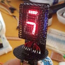 Nixie Inspired 7 Segment Display