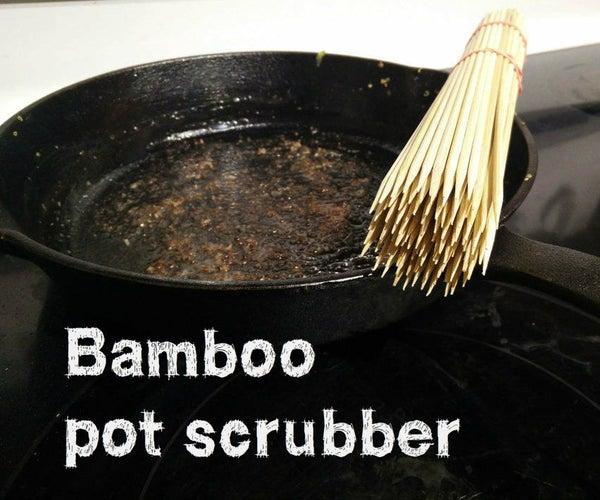 Making a Bamboo Pot Scrubber