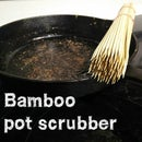 Making a bamboo pot scrubber