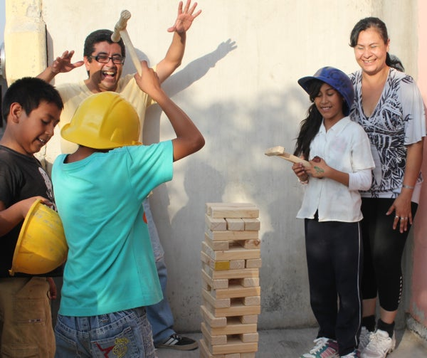 Supersized Game That Is Not Jenga