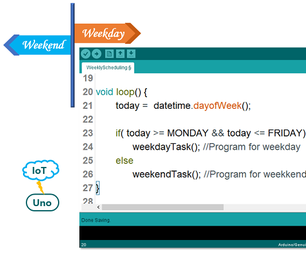 Arduino Uno, Weekly Scheduling