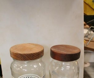 Make Your Mason Jar Countertop Presentable With a Wood Lid Cover