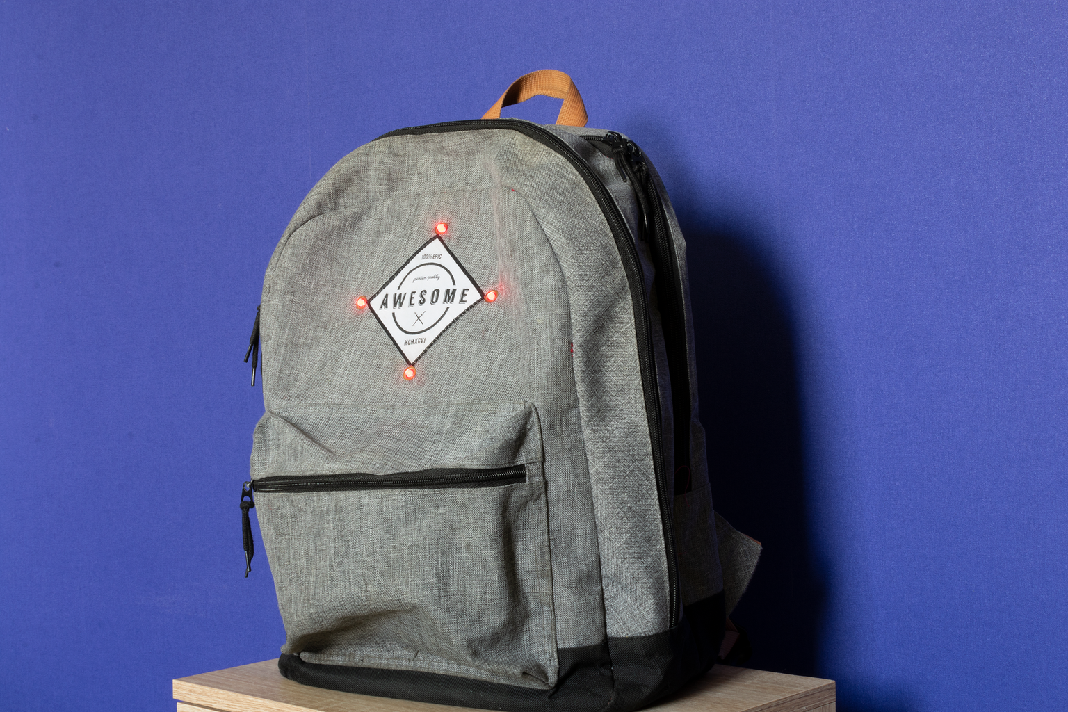 Smart Backpack With Gps Tracking and Automatic Lights