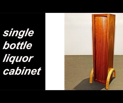 Tambour Door Single Bottle Liquor Cabinet