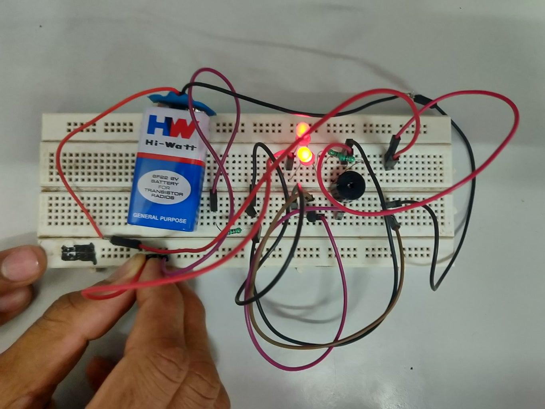 Making the Circuit in Breadboard