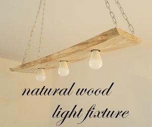Natural Wood Light Fixture