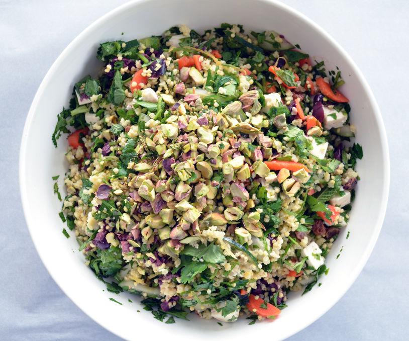 Happy Herbaceous Gluten-Free Grain Salad