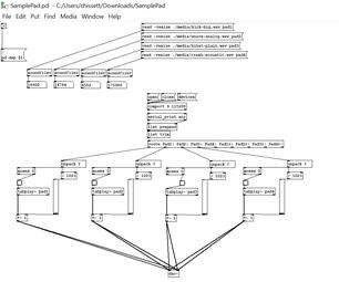 Sample Pad Controller Using Pure Data